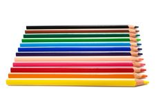 Free Beautiful Color Pencils Royalty Free Stock Photo - 6498995