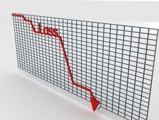 Free Decreasing Graph Stock Image - 6499001