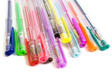 Free Color Ballpoint Pens Royalty Free Stock Images - 6499009