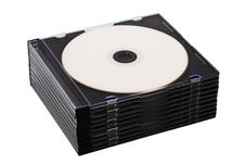 Free Disk Cd In Boxes Stock Images - 6499014