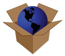 Free Earth In Cardboard Box Stock Photography - 6499582