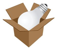 Free Lamp In Box Stock Photography - 6499762