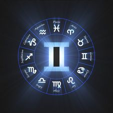 Free Astrology Symbol Gemini Light Flare Royalty Free Stock Photos - 64918278