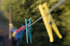 Free Clothes Pegs Stock Image - 650191
