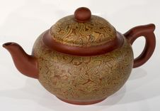Teapot At White Stock Photography