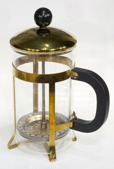 Free Plunger Teapot At White Stock Image - 650831