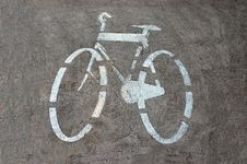Free Bicycle Track Sign Stock Photo - 652020