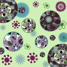 Free Retro Floral Scrapbook Background Royalty Free Stock Photos - 652578