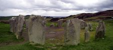 Free Drumbeg Stone Circle - Panoramic View Stock Images - 653104