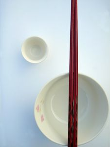 Free Chinese Bowl And Chopsticks Royalty Free Stock Images - 653419