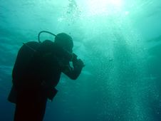 Free Diver From Below Royalty Free Stock Images - 653559
