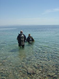 Free Two Divers Stock Photo - 653660