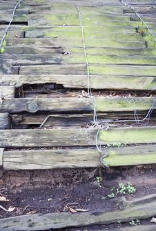 Free Shoring Up Boards. Royalty Free Stock Image - 653986