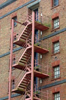 Free Fire Escape Royalty Free Stock Photos - 654978
