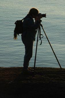 Free Photographer At Sunrise Stock Photo - 655110