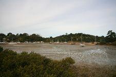 Free Boat Yard At Low Tide Stock Photos - 655333