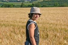 Free Young Boy In A Barley Field Royalty Free Stock Photography - 655607