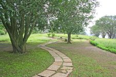 Free Garden Walking Pathway Stock Photo - 658070