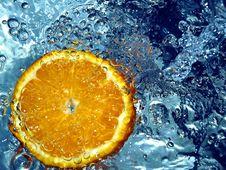 Free Orange Splashing Water Stock Images - 658244
