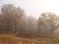 Free Villa Ruins In Fog Stock Image - 658471