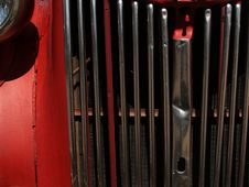 Free Red Fire Engine Grill Stock Image - 658581