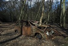 Free Car In The Woods Royalty Free Stock Photo - 659735