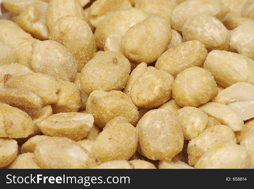 Dry Roasted Peanuts Background