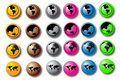 Free World Buttons Royalty Free Stock Images - 6502179