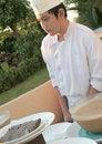 Free Chef At Buffet Stock Image - 6508181