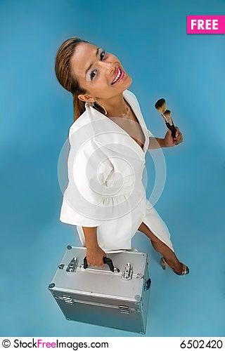 Free Cute Make-up Artist Stock Photo - 6502420