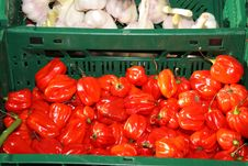 Free Red Pepper And Garlic. Stock Photos - 6500623