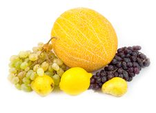 Free Pears With Grapes And Melon Royalty Free Stock Photography - 6501677