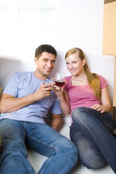 Free Celebrating Couple Royalty Free Stock Photography - 6501707