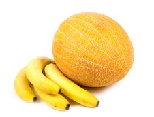 Free Yellow Bananas And  Melon Stock Photography - 6501732