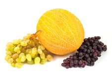 Free Yellow Melon And Tasty Grapes Royalty Free Stock Photos - 6501738