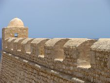 Arabic Fortification In Mahdia Stock Images