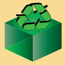 Free Recycle Above A Box Stock Photos - 6502043