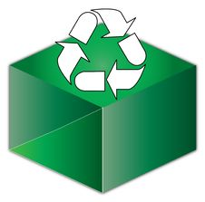 Free Recycle Above A Box Royalty Free Stock Photo - 6502065