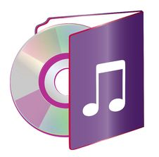 Free Folder Disc Stock Image - 6502451