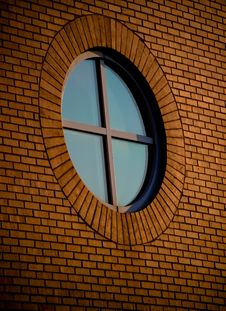 Free Circular Brick Window Stock Images - 6503404