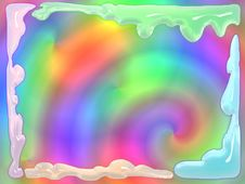 Melting Glass Psychedelic Frame Royalty Free Stock Photos