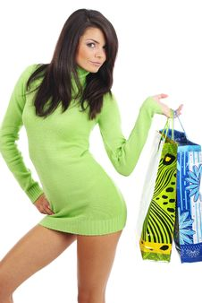 Free Woman With Shopping Bag Royalty Free Stock Photography - 6503867