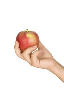 Tasty Apple In A Hand Stock Image