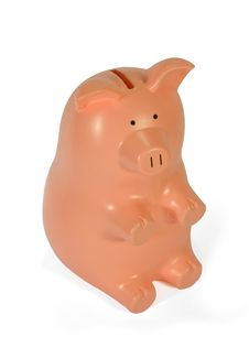 Pink And Red Piggy Bank Royalty Free Stock Photos