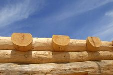 Log Home Construction Royalty Free Stock Photography