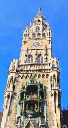 The Marienplatz And City Hall In Center Munich Royalty Free Stock Photo