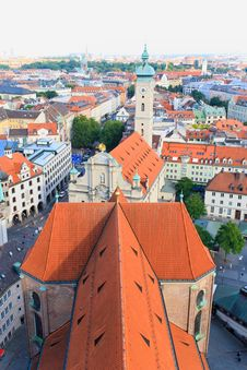 Free The Aerial View Of Munich City Center Royalty Free Stock Image - 6504586