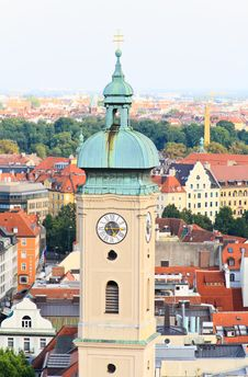 Free The Aerial View Of Munich City Center Royalty Free Stock Photos - 6504588