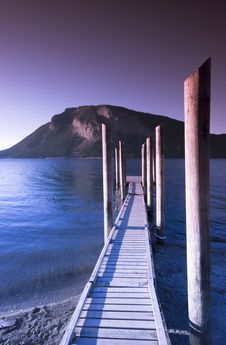 Shuswap Lake, Salmon Arm Stock Image