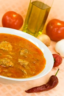 Free Stew-goulash Soup -with Red Bell Pepper And Cubes Stock Photos - 6505083